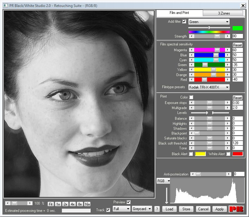 Convert to black and white with our Photoshop plugin